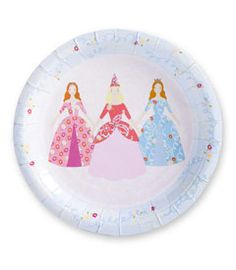 princess party plates (set of 12)
