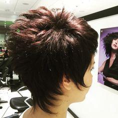 Back - Short Hair - - Hair Beauty Short Hair Back, Shaggy Short Hair, Funky Short Hair, Edgy Hair, Short Hair With Layers, Cute Hairstyles For Short Hair, Short Hair Cuts For Women, Curly Hair Styles, Hair Beauty