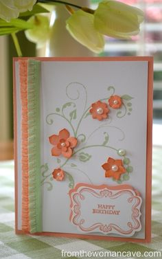 Sweet and Simple Birthday Card. Flowering Flourishes from Stampin' Up.