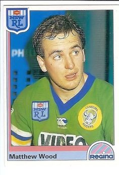 FLASHBACK: Canberra Raiders winger Matthew Wood made 73 first grade appearances for the Green Machine between 1989 and 1996. He played in three grand finals 1989-1991, scoring one try in the 1990 victory and two in the 1991 loss. He scored 23 tries and 38 goals, 168 points for the Raiders.