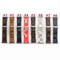 Classic Luxury Leather Apple Watch Band Gucci Apple Watch Band, Apple Watch Bands, Iphone Watch Bands, Basic White Girl, Basketball Gifts, Metal Buckles, Leather Material, Monogram Canvas, Card Wallet