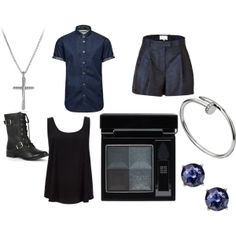"""Gray Fullbuster (Fairy Tail)"" by izzybellz on Polyvore  This is a thing I made on this website, it's like a ""get the look"" sort of thing. I did Gray! You like?"