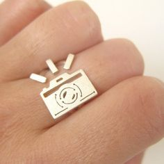 Image of Camera Ring for Photograph Lovers -Handmade Silver Ring