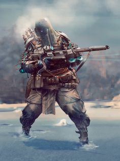 ArtStation - winter sniper, Ricean Vlad