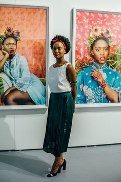 - The Coolest and Weirdest Street Style From Art Basel Miami - The Cut African American Art, African Women, Kreative Portraits, Kehinde Wiley, South African Artists, South African Design, South African Fashion, Art Basel Miami, Afro Art