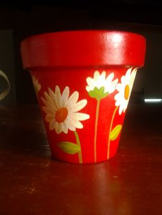 Flower Pot Art, Flower Pot Design, Clay Flower Pots, Flower Pot Crafts, Cactus Flower, Painted Clay Pots, Painted Flower Pots, Painted Pebbles, Clay Pot Projects