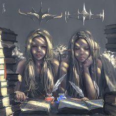 Twins by wlop.deviantart.com on @deviantART