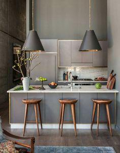 New Kitchen Interior Modern Marble Countertops 18 Ideas Home Interior, Interior Design Kitchen, Kitchen Designs, Interior Modern, Apartment Interior, Interior Ideas, Modern Decor, Kitchen Layouts, Luxury Interior