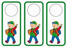 Caillou themed FREE printable door hangers