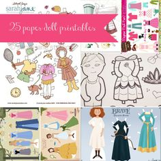 Carissa Miss: 25 {or more} Paper Doll Printables