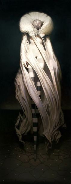 "MORPHINE 72""x 38"" oil on wood, (collection of the Artist) Michael Hussar."
