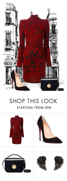 """#298"" by indubitablykarol ❤ liked on Polyvore featuring Balmain, Christian Louboutin, Marni and Henri Bendel"