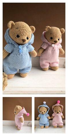 Crochet amigurumi 385480049357969549 - Source by saltei Teddy Bear Patterns Free, Crochet Bear Patterns, Amigurumi Patterns, Doll Patterns, Clothes Patterns, Crochet Dolls, Crochet Baby, Free Crochet, Knitted Teddy Bear