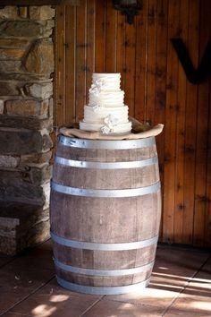 Cake on Wine Barrel