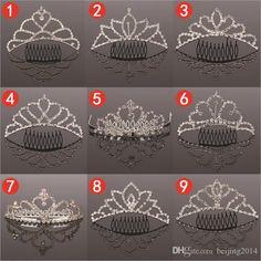 Bestsellers Fashion Bridal Crowne Diamond Wedding Hair Accessories Hair Accessories Many Styles Randomly Send $2.1   DHgate.com
