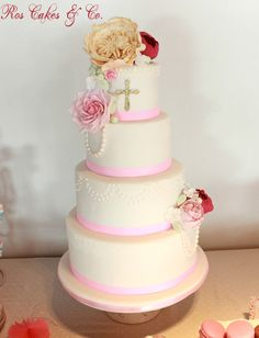 Communion Cake by Ros Cakes & Co.