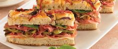 Deliciously different, this sandwich is perfect for a quick lunch or dinner.
