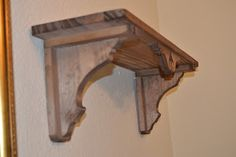 Wooden Corbels, Wooden Shelves, Handmade Furniture, Unique Furniture, Woodworking Furniture, Woodworking Crafts, Temple Design For Home, Hall Furniture, Wooden Pallet Projects