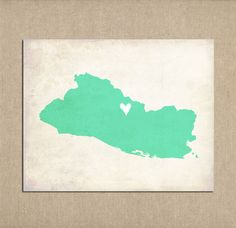 El Salvador Personalized Country Map Art Print By Meredithpdesigns