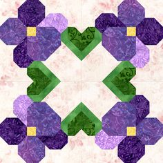 I may have to make a violet quilt for my new granddaughter, Violet :)