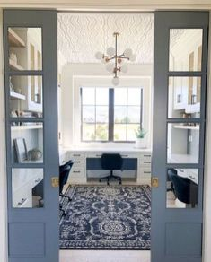 Home Office Space, Home Office Design, Home Office Decor, House Design, Home Office Lighting, Design Design, Office Spaces, Floor Design, At Home Office Ideas