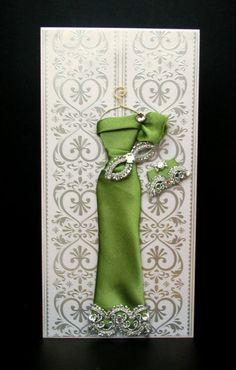 Jade Personalized Dress Card / Handmade Greeting Card by BSylvar, $21.50