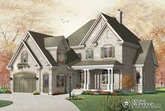 Southern House Plan Front of Home for Home Plan also known as the Julian European Home from House Plans and More. House Plans And More, House Floor Plans, Vestibule, Courtyard Entry, Drummond House Plans, Malibu Homes, Traditional House Plans, European House, Country House Plans