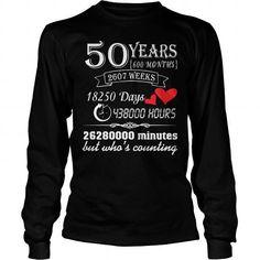 50 YEARS WEDDING ANNIVERSARY GIFT 50TH T SHIRT #weddinganniversarygifts #anniversarygifts