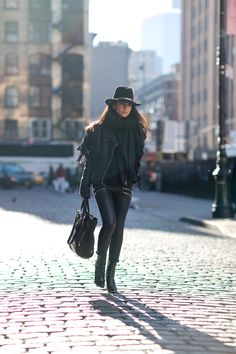 Haute Inhabit | Lainy Hedaya & Michael Dumler SoHo street style 5