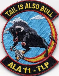 Original Patch Tlp Albacete 2016-3 Ala 11 Spanish Air Force Tail Is Also Bull