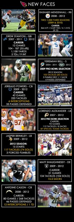 Arizona Cardinals Carson Palmer Infographic @H.M. Hofling ...