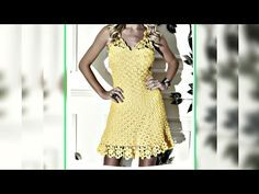 Vestido Longo de Crochê (Médio) 1ª Parte - YouTube