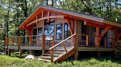 Small Timber Frame Cabin | www.imgkid.com - The Image Kid Has It! Timber Frame Cabin, Timber House, Timber Frames, Wooden House, Small Cabin Plans, Cabin In The Woods, A Frame House, Cabins And Cottages, Cabin Design