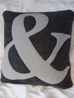 Custom Ampersand Pillow Cover by 99Twelve on Etsy, $20.00