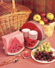 Watermelon Set Plastic Canvas Pattern