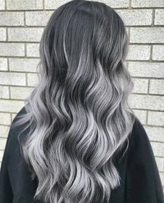 Check out these gorgeous gray hairstyles. Gray hair ,gray highlights, gray hair colors, blonde and gray hair, silver hai Grey Hair Wig, Grey Ombre Hair, Silver Grey Hair, Lilac Hair, Emo Hair, White Hair, Blue Hair, Grey Brown Hair, Silver Blonde