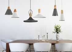 Smukła, biała lampa wisząca do jadalni, biały stożek Bicones Maytoni Modern Ceiling Lights, Lighting, Home Decor, France, Homemade Home Decor, Ceiling Light Fixtures, Ceiling Lamp, Outdoor Ceiling Lights, Early French