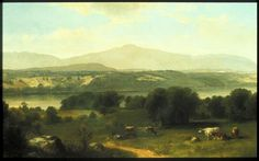 """""""View Near Catskill with Round Top,"""" Asher Durand, ca. 1864, oil on canvas, Art Museum of Western Virginia."""