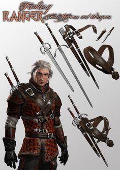 Xurge 3D Corporation - Weapons and Harness for Fantasy Ranger for M4