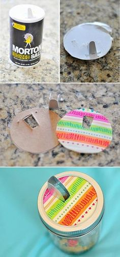 This is an entire list of brilliant uses for mason jars! Lampshades, drinking cups, single serving pie even! #DIY