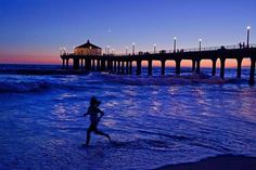 Sunset at the Manhattan Beach Pier -- early morning or late afternoon, it's a photo op waiting just for you. Vacation Trips, Vacation Spots, Manhattan Beach Pier, California Destinations, Los Angeles County, A Whole New World, California Dreamin', Beautiful Places, Just For You