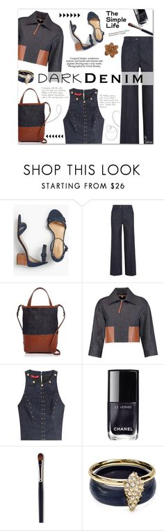 """All Denim, Head to Toe"" by xiandrina ❤ liked on Polyvore featuring Talbots, Calvin Klein Collection, Alice.D, Michael Kors, Tamara Mellon, Chanel, Laura Mercier, Alexis Bittar, Chico's and Nicole"