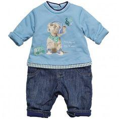 MAYORAL Baby Boys Blue Romper