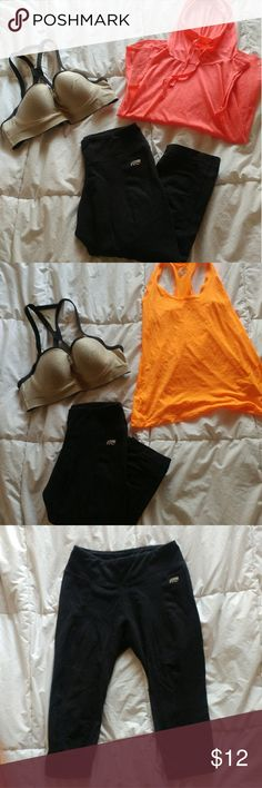 $6 FIT NEW Workout Pants Cozy and comfortable workout pants Thick-knit fabric is great for yoga, weight-lifting, and cold weather workouts Length comes past knees (I'm 5'6) Brand is Marika  Perfect condition STYLE IT: All items pictured are also available Pants