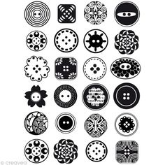 plastique dingue : idées motifs boutons