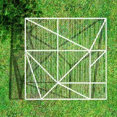 green patio and geometry
