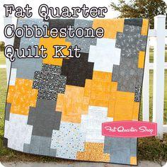 Fat Quarter Cobblestone Quilt Kit <br/>Featuring Fragile by Zen Chic