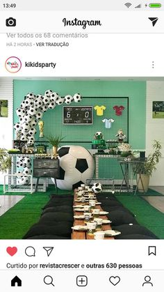 Soccer Birthday Parties, Football Birthday, Soccer Party, Sports Party, Birthday Party Themes, Soccer Baby Showers, Theme Sport, Soccer Banquet, Football Themes