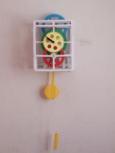 Paper Pendulum Clock Paper Clock, Pendulum Clock, Kirigami, Paper Crafts, Design, Decor, Decoration, Tissue Paper Crafts, Paper Craft Work
