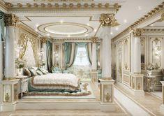 House Design Nigeria Lagos Luxury Bedroom Design, Luxury Rooms, Luxurious Bedrooms, Fancy Bedroom, Master Bedroom Interior, Bedroom Decor, Mansion Interior, Luxury Homes Interior, Home Interior Design